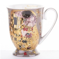 Hrnček Gustav Klimt - The Kiss - svetlý - 300 ml
